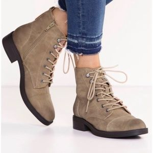 Madden Girl | Fuze Casual Combat Army Boots